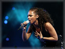 Alicia Keys Singing on the Stage