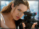 Angelina Jolie with a Sniper Rifle
