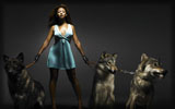 Beyonce Knowles with Wolves