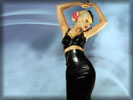 Christina Aguilera in Latex Dress