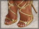 Christina Milian, Feet, Toes, Gold Shoes