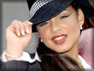 Christina Milian wearing Black Hat, Face