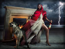 Eva Mendes for Campari with a Wolf