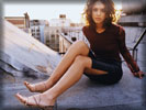 Jessica Alba on the Roof, Feet