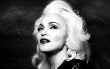 Madonna, Face, Black & White