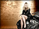 Maria Sharapova on a Motorbike, Feet