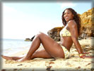 Serena Williams on the Beach