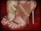 Carrie Underwood, Feet, High Heels, Gold Shoes, Toes