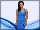 Gina Carano in a Blue Dress