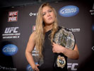 Ronda Rousey with a UFC Belt
