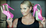 Anastasia Volochkova with Pink Shoes