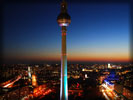 Fernsehturm TV Tower at Night, Skyline, Berlin