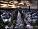 Street in Paris, HDR