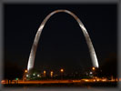 St Louis Gateway Arch at Night