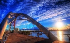 Humber Bay Arch Bridge, Toronto, Sunset