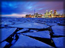 Toronto Skyline, Ice, Lake