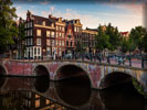 Canal in Amsterdam, Bridge