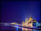 Hungarian Parliament Building, River Danube, Margaret Bridge, Budapest