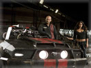 "Jason Statham & Natalie Martinez in the movie ""Death Race"", 2006 Ford Mustang GT"