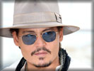 Johnny Depp wearing a Hat, Face