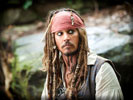 "Johnny Depp in the movie ""Pirates of the Caribbean"""