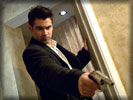 "Colin Farrell with a Gun in the movie ""In Bruges"""