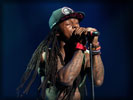 Lil Wayne Singing on the Stage