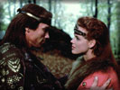 "Arnold Schwarzenegger & Brigitte Nielsen in the movie ""Red Sonja"""