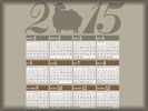 2015 Calendar, Year of the Sheep