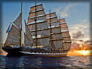 Sailing Ship, Sunset
