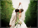 Wedding Couple, Kiss