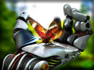 Robot Hand with a Butterfly