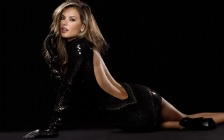 Alessandra Ambrosio in Black Mini Dress