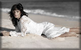 Cindy Crawford on the Beach