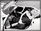 Claudia Schiffer in the Car, Black & White
