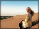 Claudia Schiffer in the Desert, Dunes