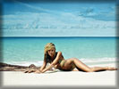 Heidi Klum in Bikini on the Beach