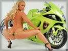 Nicole Austin aka Coco in a Thong with a Bike
