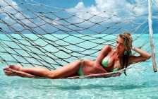 Brooklyn Decker in Green Bikini, Feet, Toes