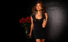 Irina Shayk in Black Mini Dress
