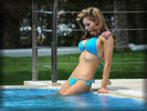 Jessica-Jane Clement in Bikini at the Swimming Pool, Tattoo