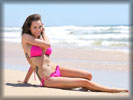 Jessica-Jane Clement in Bikini at the Beach, Feet, Toes, Tattoo