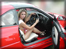 Jessica-Jane Clement in Ferrari F355 GTS, Feet, High Heels