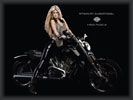 Marisa Miller with a Harley-Davidson, Bikes & Girls