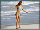 Miranda Kerr in Bikini on the Beach
