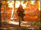 The Hunger Games: Jennifer Lawrence as Katniss Everdeen Running
