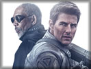 Oblivion: Tom Cruise & Morgan Freeman