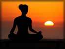 Yoga, Sunset, Woman Silhouette